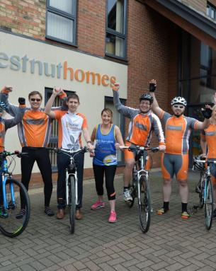 CHESTNUT HOMES TEAM UP FOR CHARITY CHALLENGES