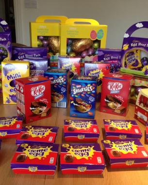 CHESTNUT HOMES DONATES EASTER EGGS TO LOCAL CHARIT